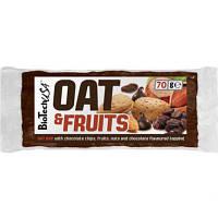 Батончик BioTech - Oat & Fruits (70 г) изюм и арахис с шоколадной глазурью
