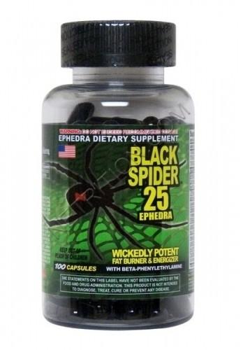 (Пробник) Жиросжигатель Cloma Pharma - Black Spider 25 Ephedra (1 капсула)