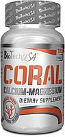 Минералы кальций и магний BioTech - Coral Calcium-Magnesium (100 таблеток) pure/без вкуса (чистый), 100 таб
