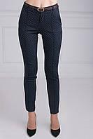 Стильные женские брюки в мелкий горошек из джинс коттона