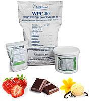 Протеин Whey (80% Milkiland Ostrowia) + Collagen Hydrolyzed (Peptan) КЛУБНИКА, ШОКОЛАД, ВАНИЛЬ 1 кг