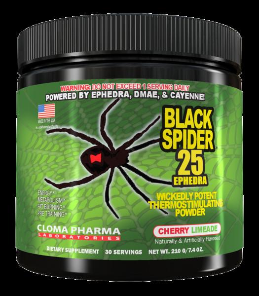Жиросжигатель Cloma Pharma - Black Spider (210 грамм)