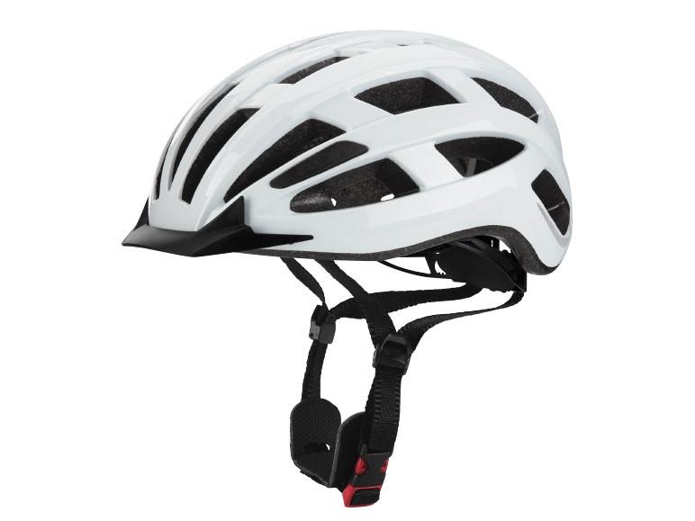 Велосипедный шлем Crivit с LED мигалкой, белый