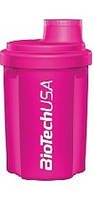 Шейкер BioTech USA 300 мл розовый/pink, 300 мл