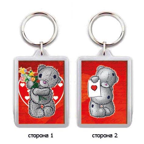 """Брелок для ключей на день влюбленных """"Мишки с сердечками"""""""