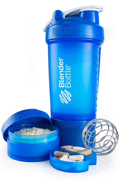 Шейкер BlenderBottle ProStak синий 22 oz / 650 мл
