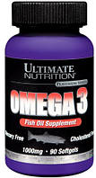 Omega 3 Ultimate Nutrition 90 caps.
