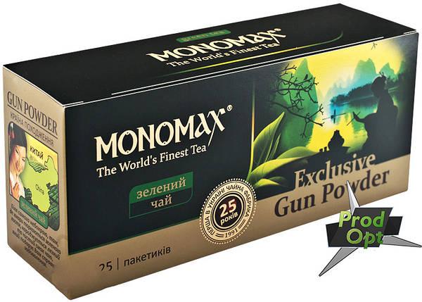 Чай зелений exclusive gun powder Мономах 25 пакетів, фото 2