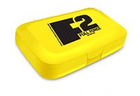 Таблетница F2 Full Force - Pill box желтая
