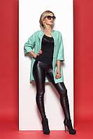 Стильное женское пальто №375 (мятный)