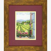 """Набор для вышивания крестом """"Вино с видом//Wine with a View"""" DIMENSIONS"""