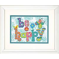 """Набор для вышивания крестом """"Будь счастлив//Be Happy"""" DIMENSIONS"""