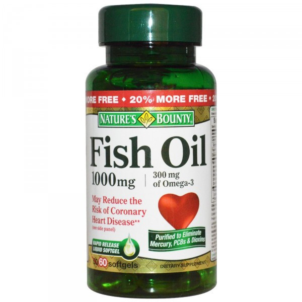 Fish Oil 1000 mg Nature's Bounty 60 caps.