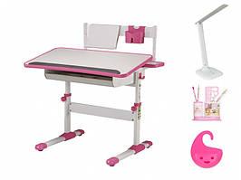 Стол BD-203 white / pink (с лампой)