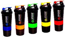 Шейкер Mini2GO Spider Bottle 600 ml + 2 контейнера (разные цвета)