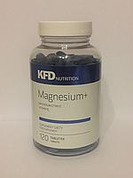 Magnesium+ KFD Nutrition 120 tabs.