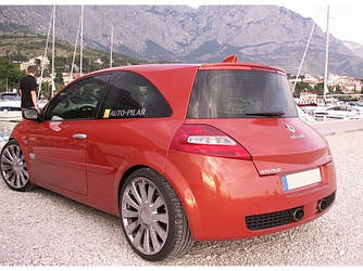 Спойлер Renault Megane 2 тюнинг сабля стиль Sport