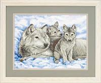 """Набор для вышивания крестом """"Волчица и волчата//Mother Wolf and Pups"""" DIMENSIONS"""