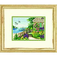 """Набор для вышивания крестом """"Коттедж у пляжа//Bayside Cottage"""" DIMENSIONS"""
