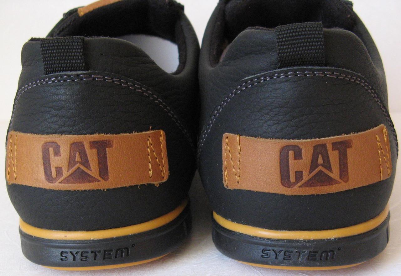 Стильные весенние мужские кожаные туфли в стиле CAT ( Caterpillаr ... 9053b00819b08