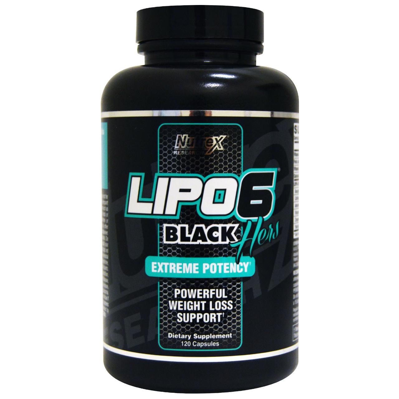Жиросжигатель Nutrex Research - Lipo-6 Black Hers Extreme Potency (120 капсул)