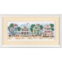 """Набор для вышивания крестом """"Котеджи у моря//Seaside Cottages"""" DIMENSIONS"""