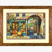 """Набор для вышивания крестом """"Уютное кафе//Charming Waterway"""" DIMENSIONS Gold Collection"""