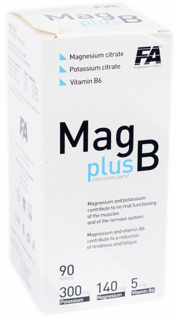 Mag plus B Fitness Authority 90 tabs.