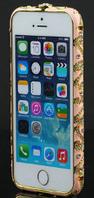 Уценка Розовый бампер с камнями для iPhone 5/5s потертости