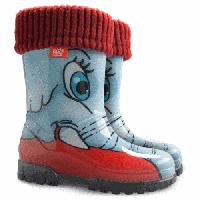 Резиновые сапоги для девочек DEMAR TWISTER LUX PRINT Слоны 130051