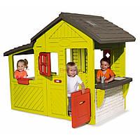 Садовый домик с кухней-барбекю и звонком Smoby 310300 Floralie Neo