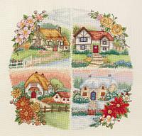 """Набор для вышивания """"Коттеджи всех сезонов (Seasonal Cottages)"""" ANCHOR"""