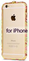 Уценка Цветной бампер с камнями для iPhone 5/5s потертости