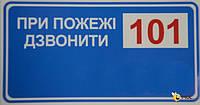 Знаки пожарной безопасности Знак При пожаре звонить 101