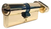 Цилиндровый механизм ТИТАН M80(40*40)-C PB ключ-поворотник