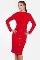 Платье футляр деловое красное, р-р 50, 52