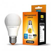Лампа LED Videx A60e 8W E27 4100K 220V