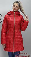 Демисезонное женское пальто из плащёвки.