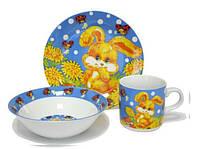 Детский набор посуды Зайченок