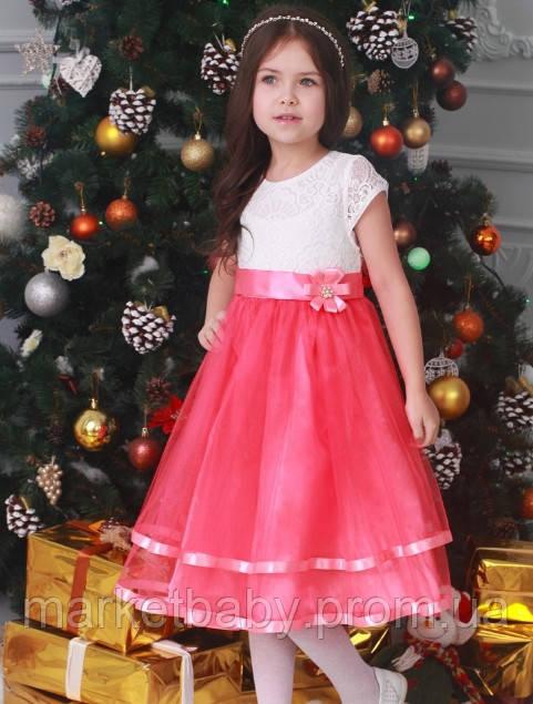 Платье для девочки праздничное 116