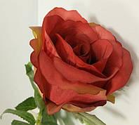 Красная роза в бутоне (цветок розы) на ветке искусственная