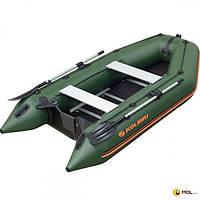 Колибри Надувная килевая моторная лодка Колибри КМ-330Д профи