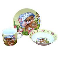 Детский набор посуды Медвежонок