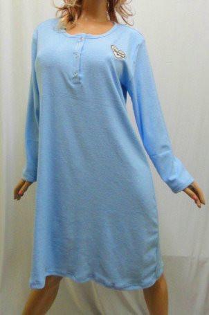 Ночная рубашка, сорочка, ночнушка махровая женская больших размеров
