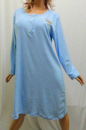 Ночная рубашка, сорочка, ночнушка махровая женская больших размеров, фото 2
