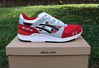 Мужские кроссовки Asics Gel-Lyte III Red/Black-White (асиксы). Реальное фото!
