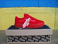 Vans Textile 2016  кеды мужские повседневные  (ванс) красные
