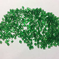 Бісер (бисер) MATSUNO Японія  рубка, 11/ 2 CUT 100 грам, № 22 зелений прозорий