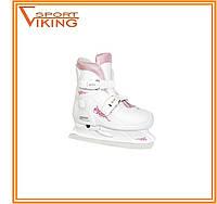 Коньки ледовые раздвижные Tempish Expanze Lady бело-розовые