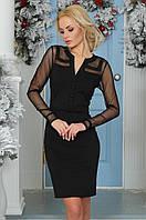 Платье-мини футляр повседневное черное
